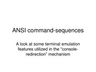 ANSI command-sequences