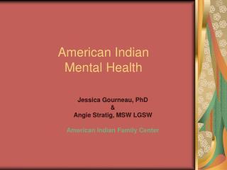 American Indian  Mental Health