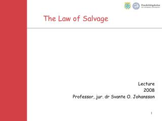 The Law of Salvage