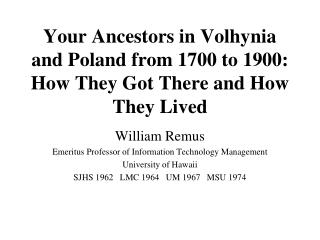 Your Ancestors in Volhynia and Poland from 1700 to 1900: How They ...