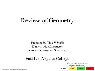 Review of Geometry