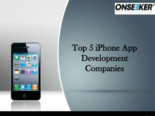 Top 5 iPhone App Development Companies