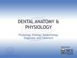 DENTAL ANATOMY  PHYSIOLOGY
