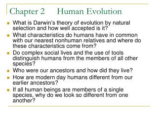 Chapter 2 Human Evolution