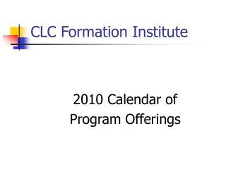 CLC Formation Institute