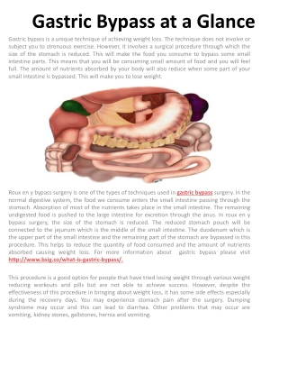 Gastric Bypass at a Glance