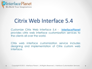 Citrix Web Interface 5.4