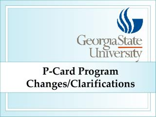 P-Card Program Changes