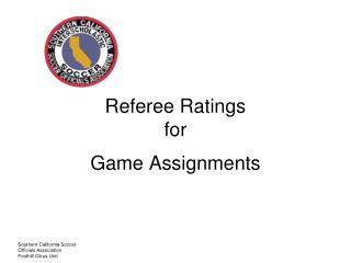 Referee Ratings for