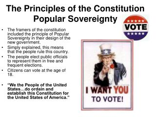 The Principles of the Constitution Popular Sovereignty