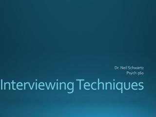 Clinical Assessment Interviewing