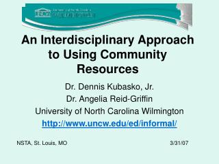 An Interdisciplinary Approach to Using Community Resources