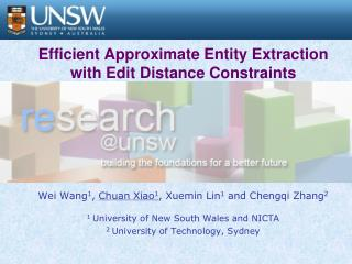 Efficient Approximate Entity Extraction with Edit Distance ...