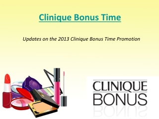Clinique Bonus Time Promotion