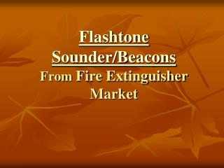 Flashtone Sounder Beacons