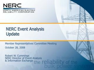NERC Event Analysis Update