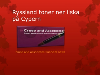 Ryssland toner ner ilska på Cypern