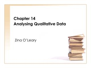 Chapter 14 Analysing Qualitative Data