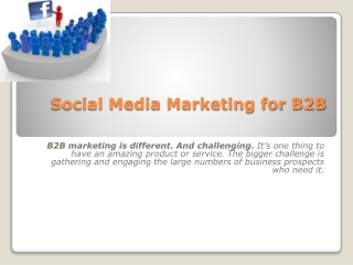 B2B marketing with Social Media | Lead Generation strategies