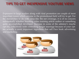 Tips to get Inexpensive YouTube Views