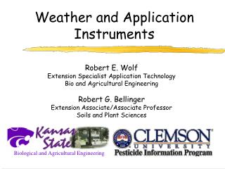 Weather and Application Instruments