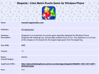Shapzzle - Color Match Puzzle Game for Windows Phone