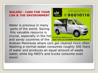 Waless Waterless Car Wash