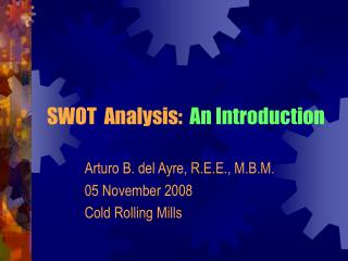 SWOT  Analysis:  An Introduction