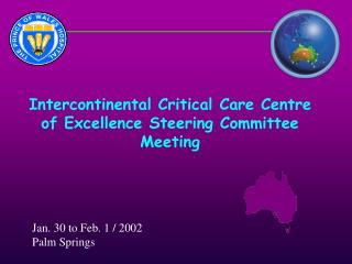 Intercontinental Critical Care Centre of Excellence Steering ...