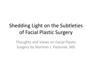 Shedding Light on Facial Rejuvenation