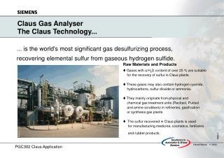 Claus Gas Analyser The Claus Technology...