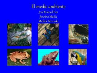 El medio ambiente Jos  Manuel Pan Jannine Mu iz Michele Mercado