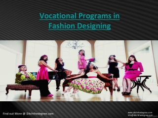 Vocational Programs in Fashion Designing