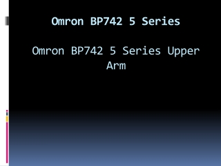 Omron BP742 5 Series
