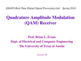 Quadrature Amplitude Modulation QAM Receiver