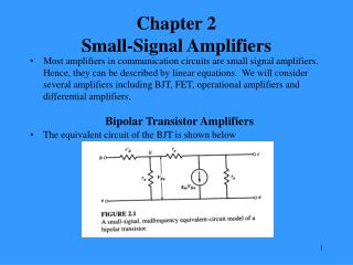 Chapter 2 Small-Signal Amplifiers