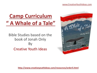 Youth Camp - A Whale of A Tale
