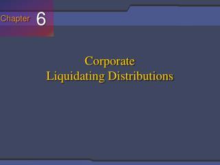 Corporate Liquidating Distributions