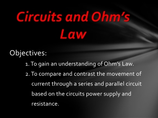 Circuits and Ohm