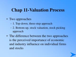 Chap 11-Valuation Process