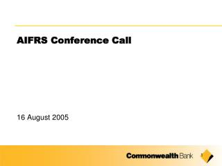 AIFRS Conference Call
