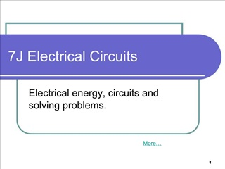 7J Electrical Circuits