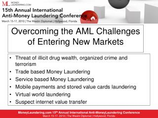 Overcoming the AML Challenges of Entering New Markets