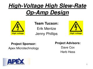 High-Voltage High Slew-Rate  Op-Amp Design