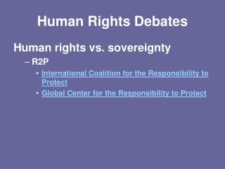 Human Rights Debates