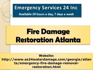 fire damage restoration atlanta