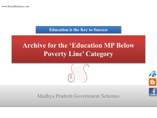 Madhya Pradesh Government Education Schemes for below povert