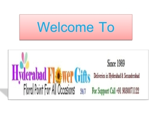 Hyderabad Flower Gifts - Online Florists in Hyderabad @ 9030071122