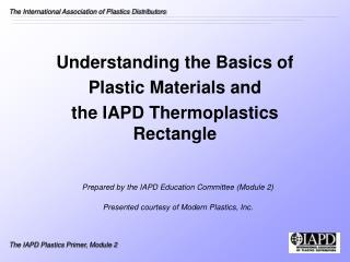 Module 2 - Modern Plastics