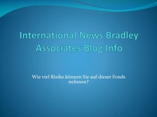 International News Bradley Associates Blog Info: Wie viel Ri